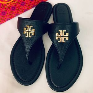 Tory Burch Jolie Thong Flat Sandals Leather